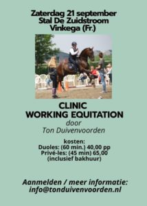 Clinic Working Equitation Vinkega (Fr.) @ PSC De Zuidstroom
